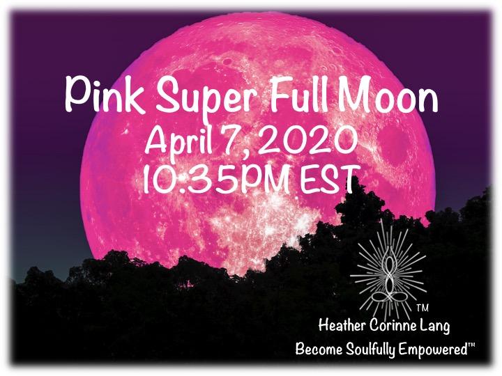 April Pink Super Full Moon