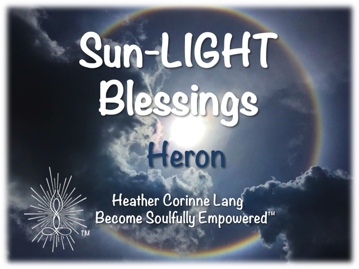 Sun-LIGHT Blessings ~ Heron