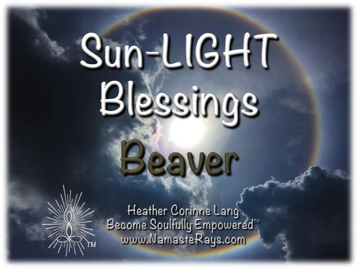Sun-LIGHT Blessings ~ Beaver